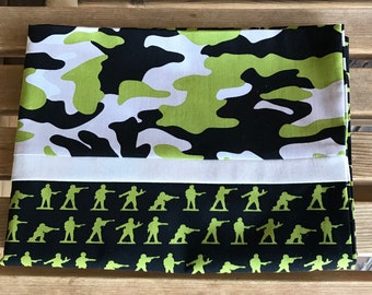Novelty Pillowcase - Military Max / Soldier Pillowcase / Army -  Camo - Military Gift