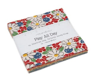 Play All Day  - ByAmerican Jane for Moda - Charm Pack