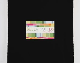 Bella Solids Black Junior Layer Cake - Moda 9900JLC-99 - 9900JLC99