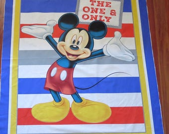 Disney - Mickey  100% Cotton Fabric Panel - 43 - 44in x 35-36in