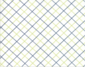 Bonnie Camille Smitten Fabric -Bias Plaid Navy 5517527