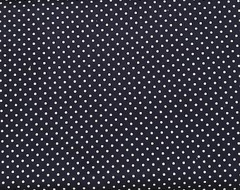 Riley Blake - White Swiss Dots on Navy fabric - C67021