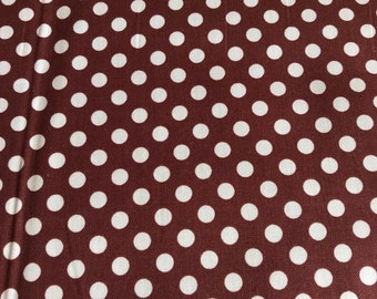 Le Creme Dots Brown - Riley Blake Sold by the Yard C610 90
