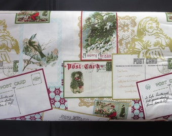 Postcards for Santa Sparkle Main Fabric - Riley Blake