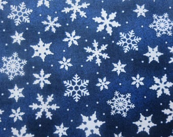 Wilmington Print -  Dark Blue Snowflake Toss # 39105-441