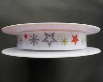 One For The Boys Star Ribbon - Designer Ribbon by Riley Blake - 25 Yards Grosgrain