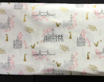 Camelot Licensed Fabric - Mary Poppins -85460102L - With Metalic - It's Supercalifragilisticexpialidocious!