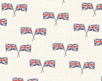 LONDON by Whistler Studios -  Windham Fabrics 52347-1 - Flags