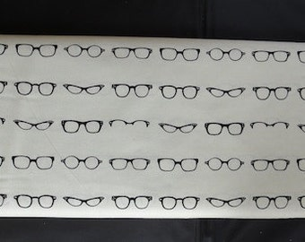 Riley Blake - Geekly Glasses - Cream Background