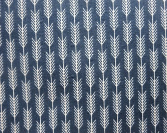 Riley Blake High Adventure Arrow Stripe Blue Fabric  C5555 - One Yard Remaining!