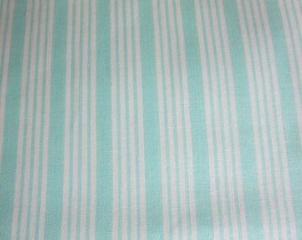 Bonnie Camille The Good Life Fabric -Bonnie Camille Floral Stripe Aqua 55157 12 -  3 Day Special