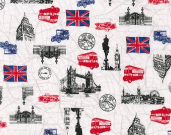 Robert Kaufman - Next Stop, London 33084587 - British Fabric