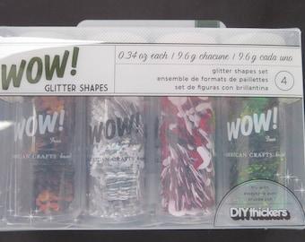 American crafts Glitter Shape Set -27396 - 4 Piece