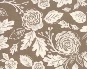 Harvest Road Modern Chestnut Floral  5100-13 by Lella Boutique for Moda Fabrics