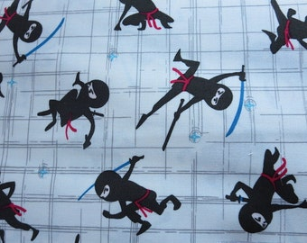 End of Bolt 1 yard - Riley Blake - Year of the Ninja Cream Fabric