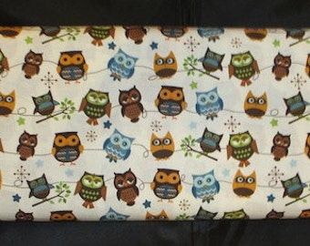 Hooty Hoot Returns - Cream Owl Fabric - Out of Print Fabric