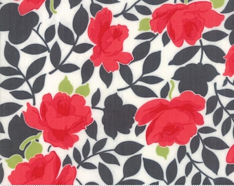 Little Snippets - Bonnie and Camille Fabric - 5518016 - Floral Vintage Rose Grey