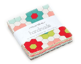 "Bonnie And Camille - Handmade - Moda Treat 3.5"" Squares - In Stock"