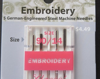 Klasse Embroidery Machine Needle Size 90/14 - Buy Two Get One Free!