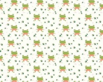 Riley Blake - Ready set splash Cream Frogs C9892 - Fabric - Sandy Gervais
