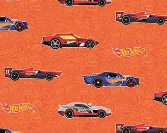 Riley Blake - Hot Wheels Main Orange - C9750-ORANGE - Fabric - I Spy Fabric