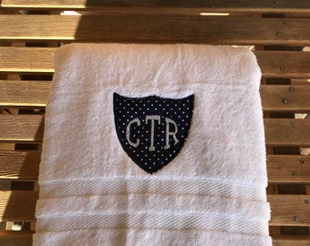 CTR Towel - Blue With White Dots