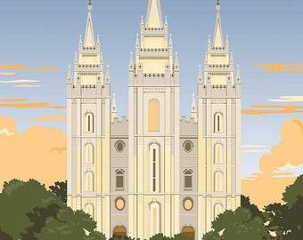 Riley Blake - Temples Salt Lake Panel