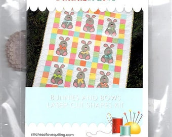 Bunnies and Bows Laser Cut Shapes Kit by Stitches of Love SOL6480