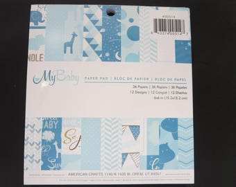 "American Crafts Paper Pad - My Baby - 6""x 6"" - 36 Sheets"