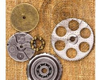 Prima Marketing Sunrise Sunset Mechanicals Metal Vintage Trinkets - Embellishments - STEAMPUNK 960353