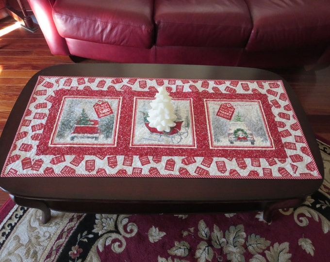 Featured listing image: Homemade -  Christmas Table Runner Holiday Traditions