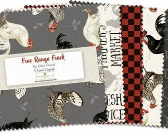 Free Range Fresh Charm pack 42pieces - by Katie Pertiet Collection For Wilmington Prints
