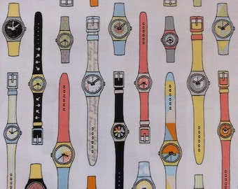 Geekly Chic Watch Fabric - Riley Blake - ON SALE