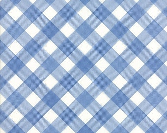 Moda Feed SacksTrue Blue 2330121 - 23301 21 -  Gingham Diagonal  Linzee McCray