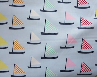 End of Bolt 3/4 Yard - Marina Sail Away # ST-JL706MAR - Dear Stella -Oh Say Can You Sea by Jack & Lulu Collection In Theme