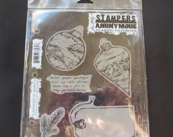 """Tim Holtz -Stampers Anonymous Cling Stamps 7""""X8.5"""" Classics #10 - This Is A Discontinued Stamp Set"""