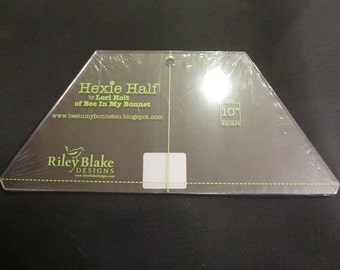 Lori Holt - Hexie Half Ruler 10 inch - by Riley Blake - Back In Stock, But Going Fast!