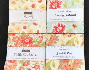 Fig Tree Charm Pack Set - Chantilly - Hazel And Plum - Coney Island  - Farmhouse ll
