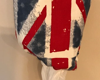 Homemade Grocery Bag Holder Union Jack - British / Carrier Bag Storage / Plastic Bag Storage