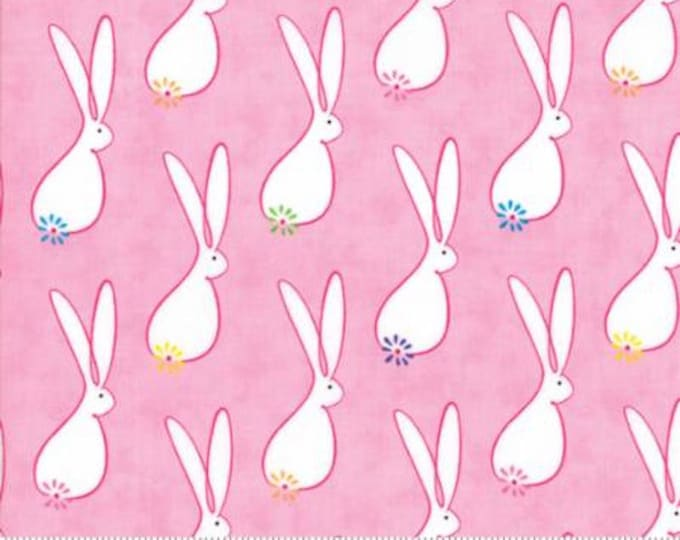 Featured listing image: Me My Sister Frolic Fabric Rabbit - Me My Sister Floral Hoppin Good Time pink - Bunny  2231213
