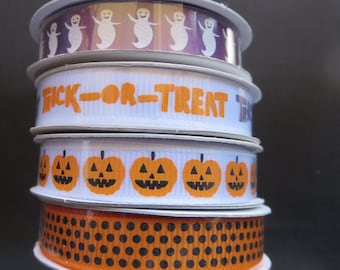 4 Spools Of American Craft Halloween Ribbon