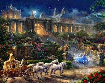 Disney Cinderella Clock Strikes at Midnight Panel, 36in # DS20649C1