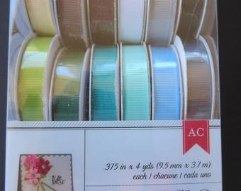 American Crafts Premium Ribbon -  Ruban - 18 Spools x 4 Yards - 50 Cents a spool!
