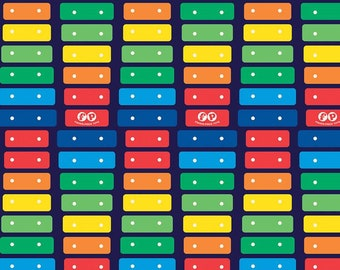 Riley Blake - Fisher-Price Xylophone Navy C9761- Fabric - I Spy Fabric - Official licensed product