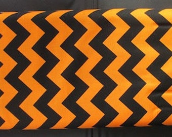Riley Blake - Medium Chevron Orange And Black
