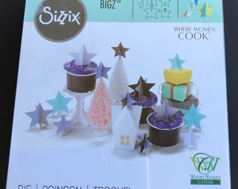 Sizzix Bigz 3-D Die  Stars By Where Women Cook - 661914