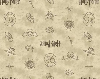 Dark Cream Symbols Harry Potter 23800137-1 Camelot- Wizarding World- Harry Potter- J.K. Rowling's Collection
