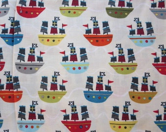 Riley Blake Treasure Boats - Cream