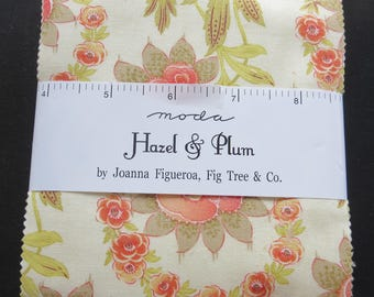 In Stock New Fig Tree Fabric - Hazel And Plum Charm Pack