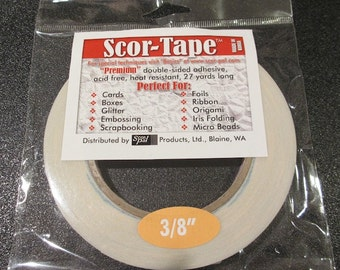 Scor-Tape - Premium Double Sided Adhesive 3/8 ""
